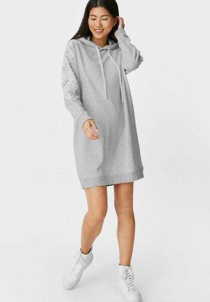 Day dress - light gray-melange