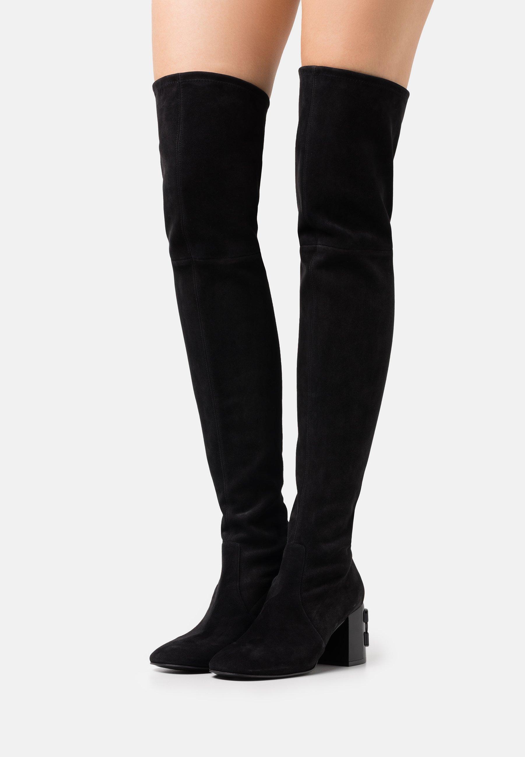 Damen Overknees - black