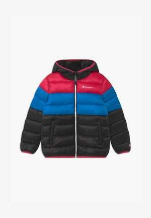 COLOR BLOCK UNISEX - Winter jacket - black/blue/pink