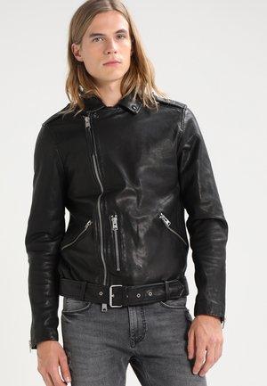 KAHO BIKER - Leather jacket - black