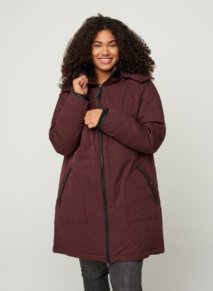 Down coat - dark bordeaux