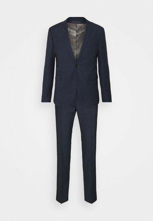 PINSTRIPE - Suit - dark blue
