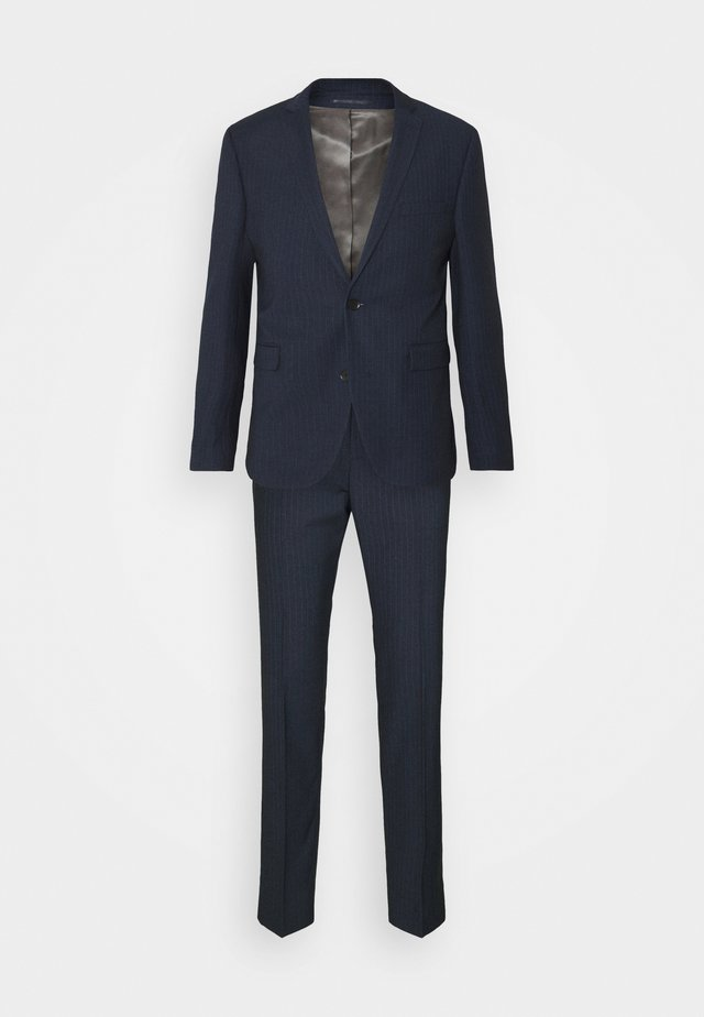 PINSTRIPE - Suit - dark blue