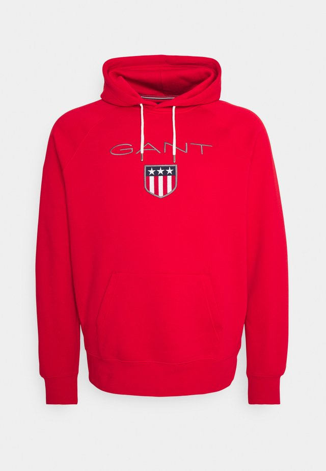 PLUS SHIELD HOODIE - Hoodie - bright red