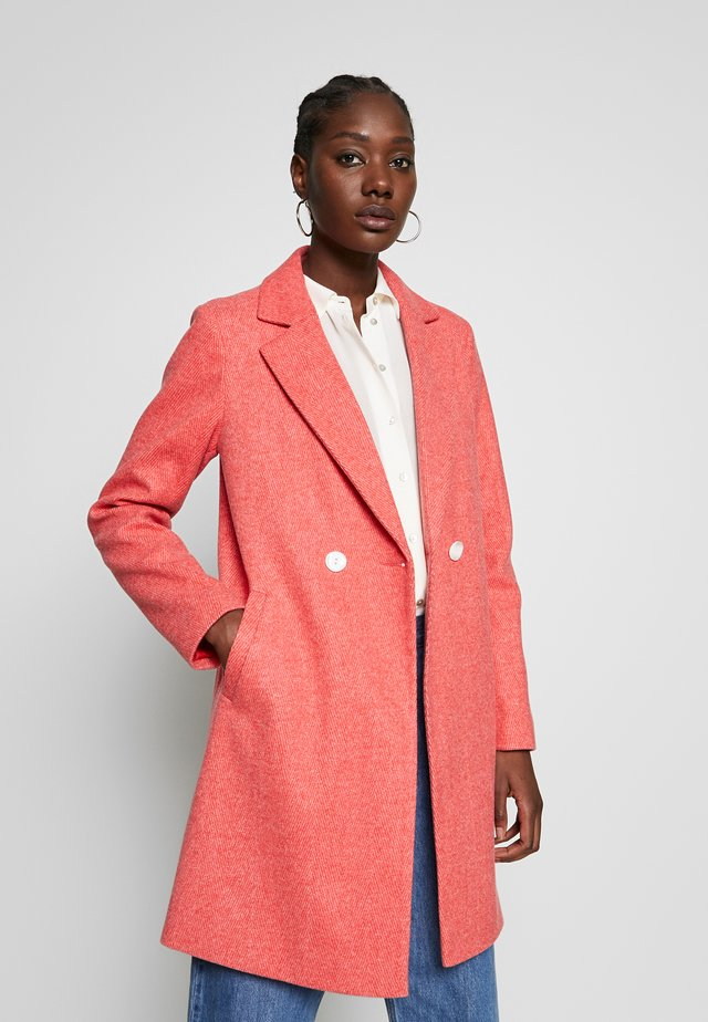 SINGLE BREASTED - Classic coat - red