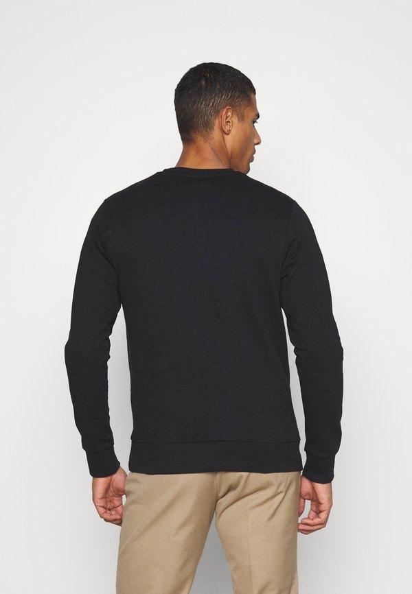 Jack & Jones JJEBADGE CREW NECK - Bluza - black/czarny Odzież Męska CJYC