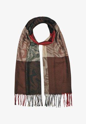 Sjaal - mehrfarbig gem. foto: braun & beige & rot