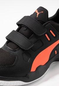 Puma - AURIZ - Sports shoes - black/nrgy red/white - 5