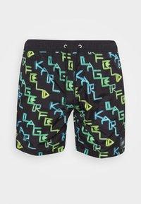 KARL LAGERFELD - ALL OVER MEDIUM  - Swimming shorts - green/yellow - 3