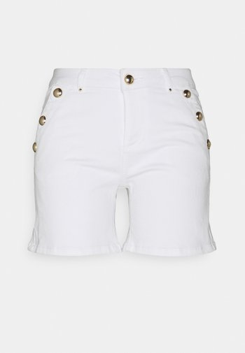 SHANA - Denim shorts - off white