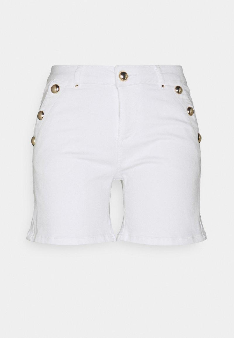 Morgan - SHANA - Denim shorts - off white