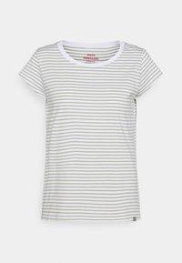 ORGANIC FAVORITE STRIPE TEASY - Print T-shirt - white/light army