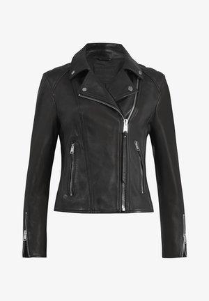 Leather jacket - mottled black