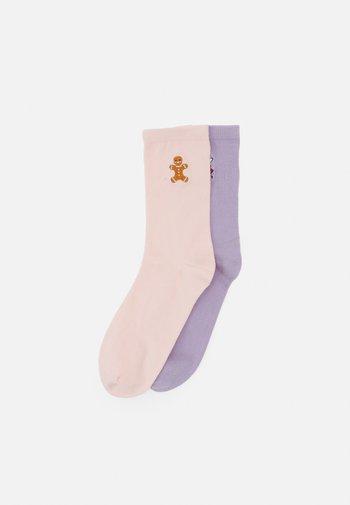 Sokken - lilac purple dusty/pink dusty