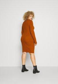 Even&Odd - Pouzdrové šaty - brown - 2