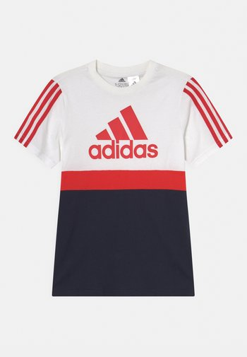 COLORBLOCK ESSENTIALS UNISEX - T-shirt z nadrukiem - white/legend ink/vivid red