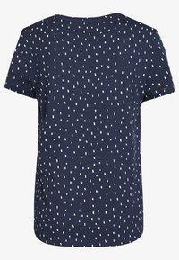 TOM TAILOR DENIM - PRINTED SLUB TEE - T-shirt imprimé - dark blue - 1