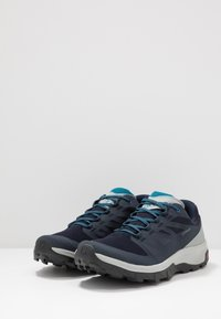 Salomon - OUTLINE GTX - Hiking shoes - navy blazer/quarry/lyons blue - 2