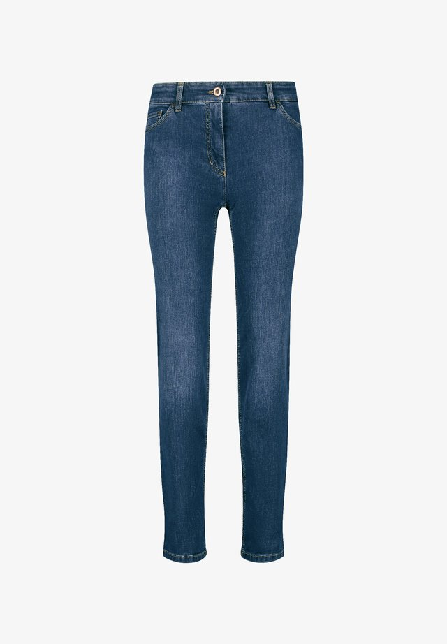 STRAIGHT FIT - Jeans Skinny - dark blue denim mit use
