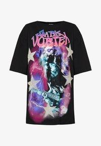 OVERSIZED SHORT SLEEVE - Print T-shirt - black