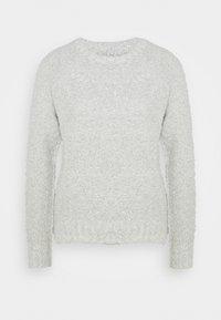 ONLY - ONLOLIVIA O NECK - Jumper - white/black melange - 5