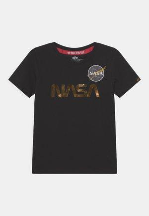 NASA - Print T-shirt - black/shiny gold