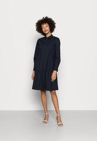 Marc O'Polo - DRESS FLARED STYLE - Shirt dress - night sky - 0