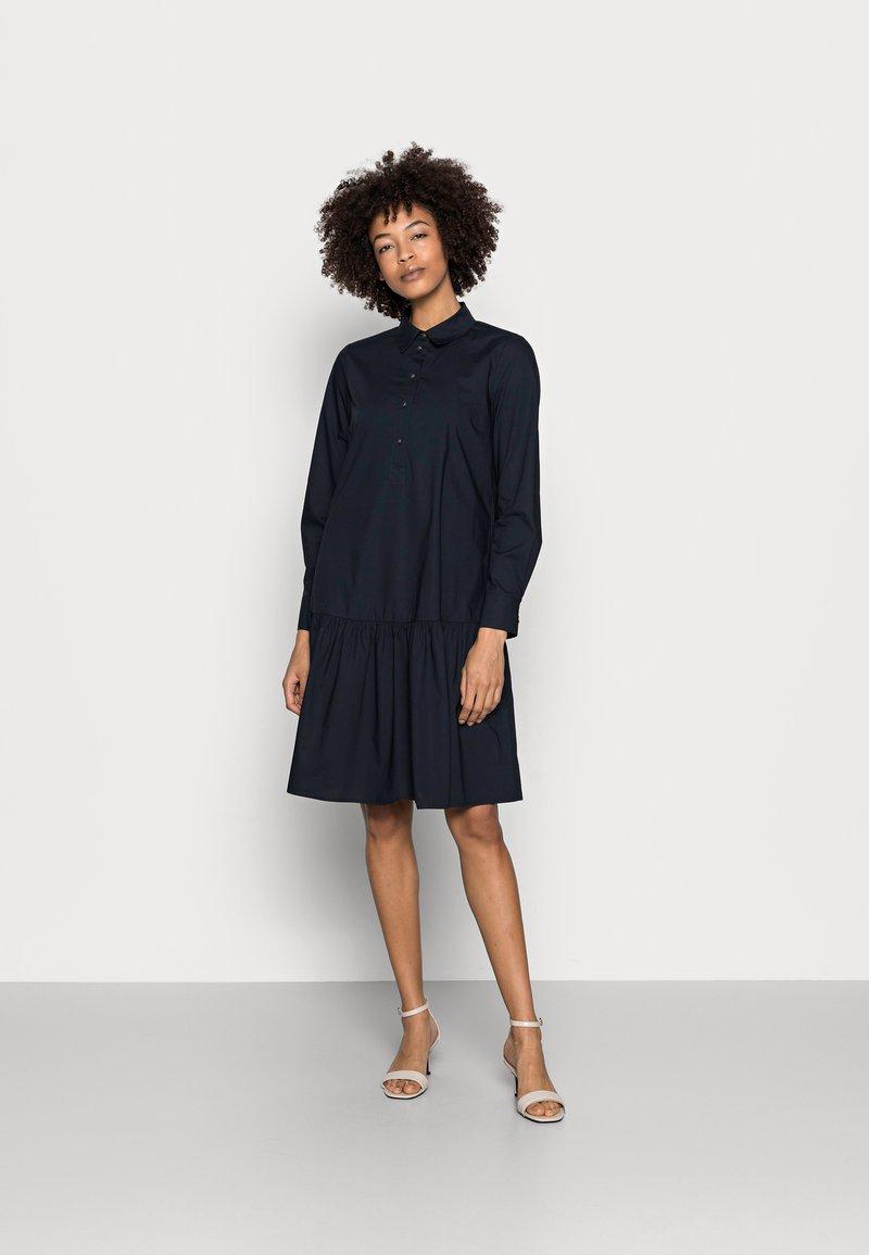 Marc O'Polo - DRESS FLARED STYLE - Shirt dress - night sky
