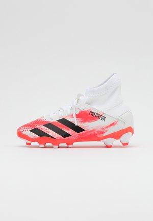 PREDATOR 20.3 MG - Voetbalschoenen met kunststof noppen - footwear white/core black/pop