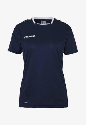HMLAUTHENTIC  - Print T-shirt - marine