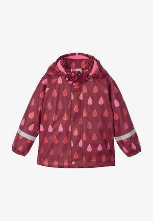 Waterproof jacket - jam red drops