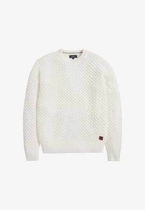 TEXTURED - Pullover - off-white