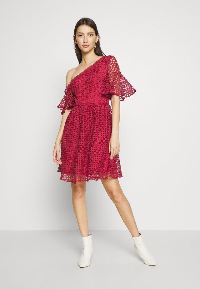 MINI CROCHET - Shirt dress - marsala