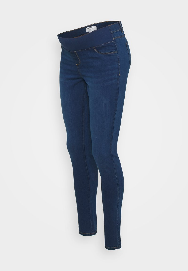 Dorothy Perkins Maternity - UNDERBUMP ELLIS - Vaqueros pitillo - mid wash denim