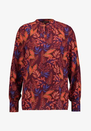 BLOUSE - Blouse - wine red/multicolor