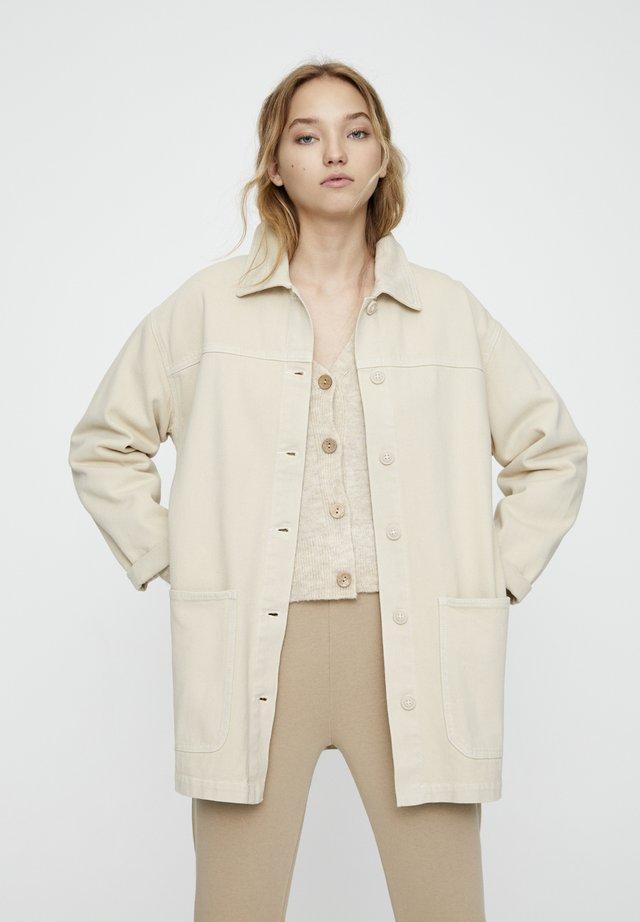 Jeansjacke - beige