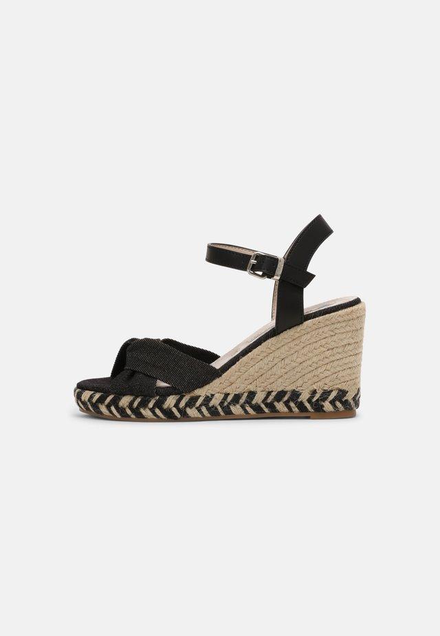 LOUISA - Sandály na platformě - black