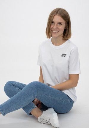 VRONT MESSAGE - Print T-shirt - white