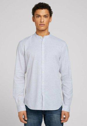 Shirt - light grey melange structure