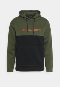 Jack & Jones - JJEURBAN BLOCKING HOOD - Sweater - forest night - 0