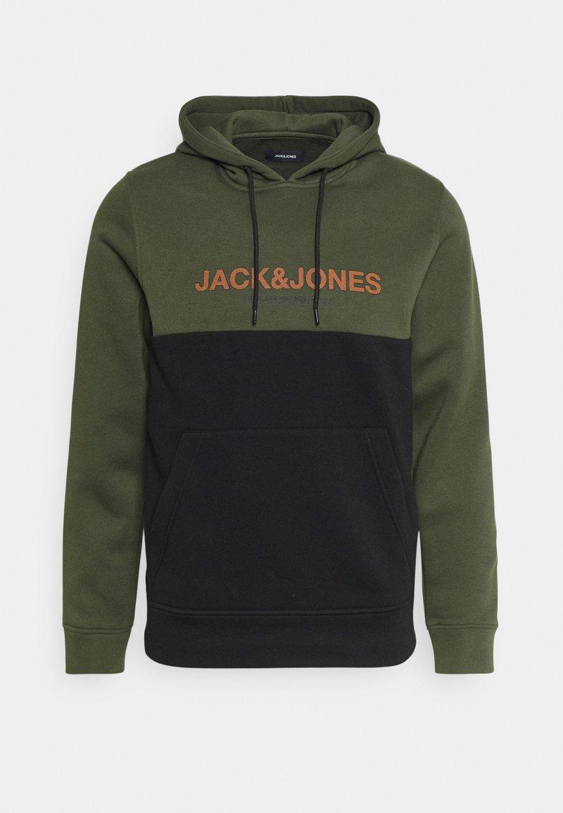 Jack & Jones - JJEURBAN BLOCKING HOOD - Sweater - forest night