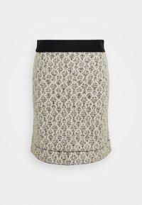 sandro - JAZZ - A-line skirt - ecru/noir - 0