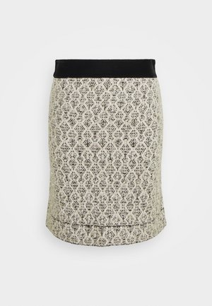 JAZZ - A-line skirt - ecru/noir