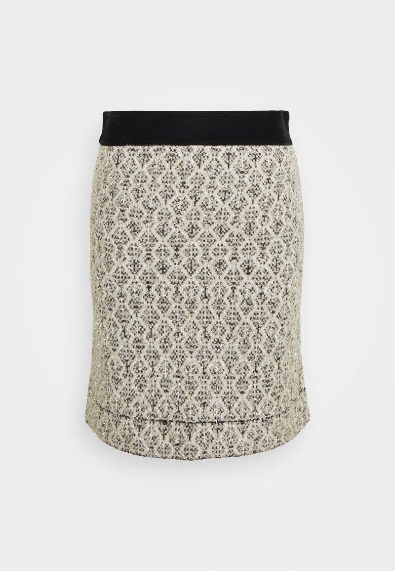 sandro - JAZZ - A-line skirt - ecru/noir
