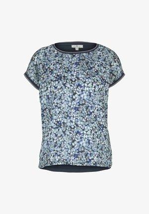 Print T-shirt - navy floral design