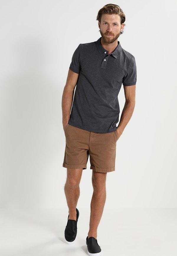 Pier One Koszulka polo - dark grey melange/ciemnoszary melanż Odzież Męska XESD