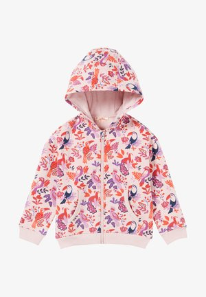 Zip-up sweatshirt - heather pink