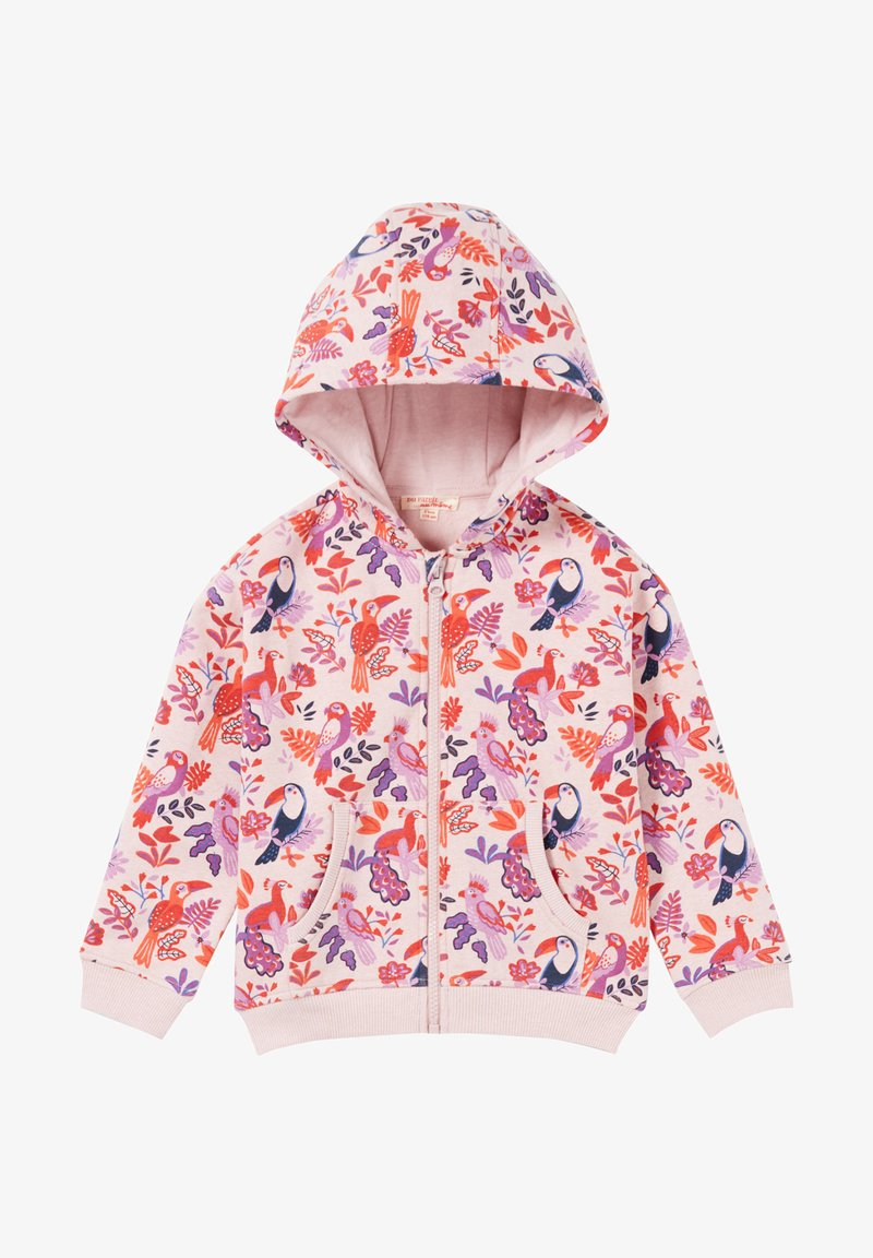 Du Pareil au Même - Zip-up sweatshirt - heather pink
