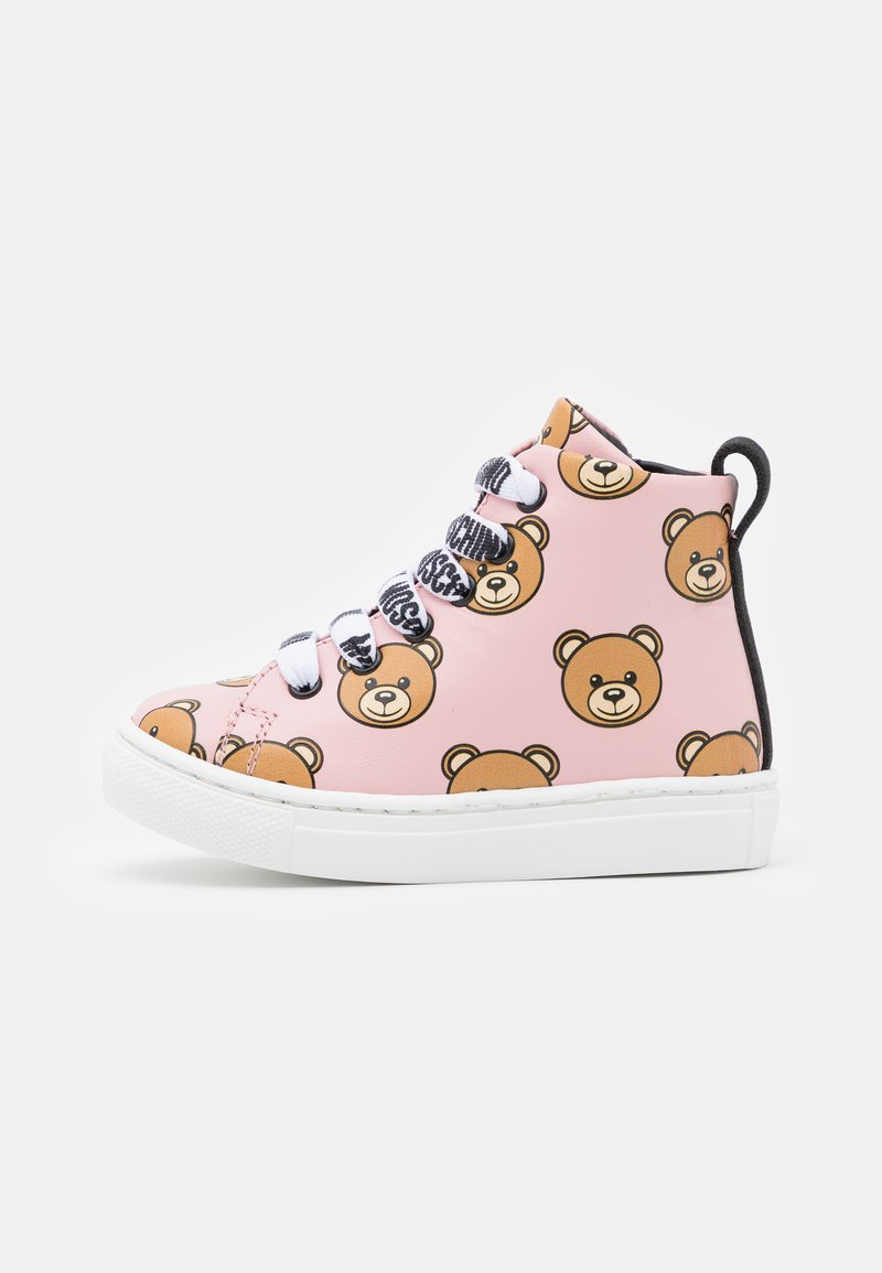 MOSCHINO - High-top trainers - light pink