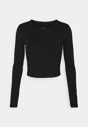CROP LONG SLEEVE - Long sleeved top - black